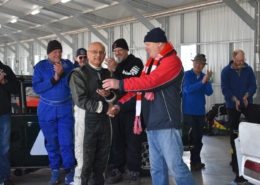 Winton ATC 19-Fastest-lap-presentation-to-Glen-TR6
