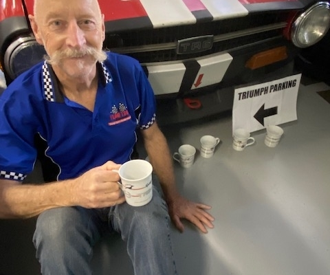 Barry Pritchett spare cups to catch the oil drips