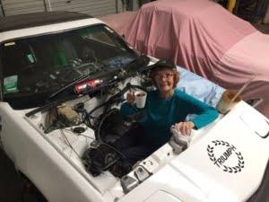 Judy Watson serving her apprenticeship